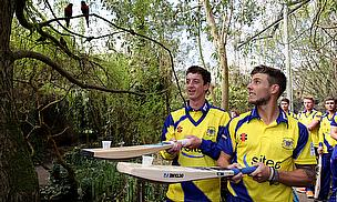 Gloucestershire cricketers at Bristol Zoo