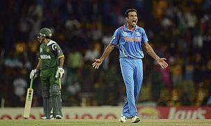 Irfan Pathan appeals for a wicket