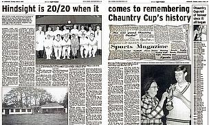 The Chauntry Cup is now nearly 80 years old
