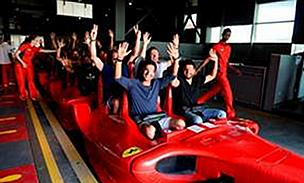 Chennai Super Kings get on board the 'Formula Rossa' at Ferrari World Abu Dhabi