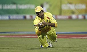 Suresh Raina takes a catch