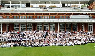 England Stars Coach Schoolchildren On Lord's Open Day