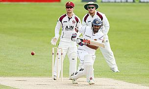 There were runs late in the day for Dimuth Karunaratne