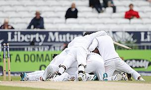Sri Lankan players celebrate their win