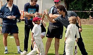 He was on hand to offer some tips to the delighted youngsters