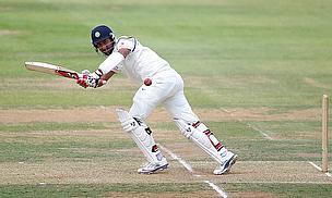 Cheteshwar Pujara hits to leg