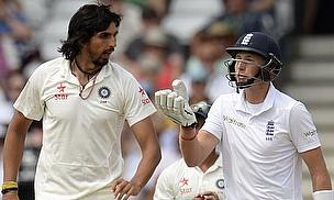 Ishant Sharma and Joe Root clash