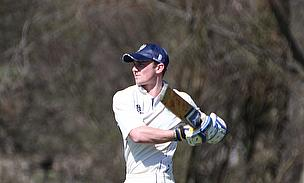 Charlie Coleman hits out during his half-century