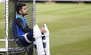 Virat Kohli takes a break at Lord's