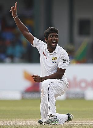 Dilruwan Perera appeals for a wicket