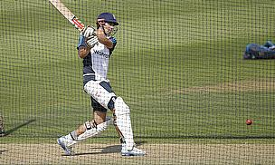 Alastair Cook bats in the nets