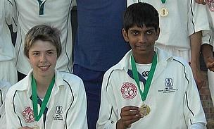 Ravi Patel (right), pictured here with HSM U15s, has been called up to the England Lions squad