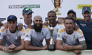 South Africa celebrate their series win in Sri Lanka