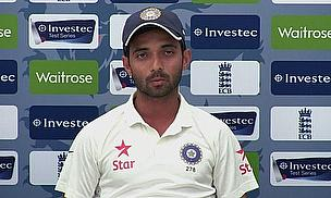 Ajinkya Rahane talks to the press