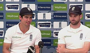 Alastair Cook and James Anderson