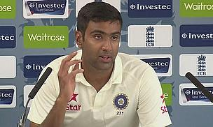 Ravichandran Ashwin talks to the media