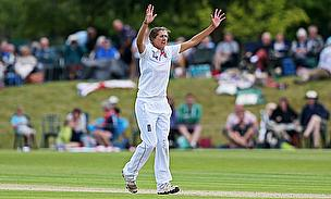 Jenny Gunn appeals for a wicket