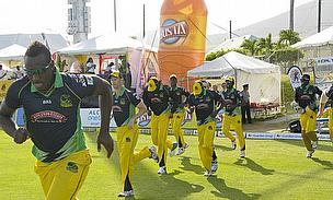Andre Russell (front) produced another brilliant display to lead the Jamaica Tallawahs to victory