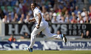 Chris Jordan celebrates a wicket