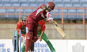Darren Bravo hit 53 to set up the West Indies' score