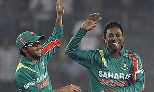 Sohag Gazi celebrates a wicket