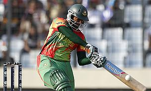 Shakib Al Hasan in action