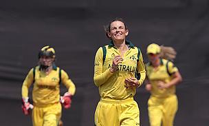 Erin Osborne celebrates a wicket