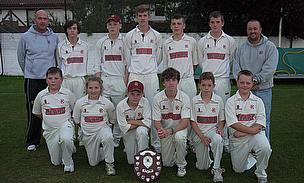 The winning Eppleton Under 15s team