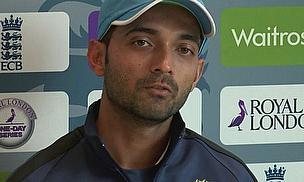 Ajinkya Rahane speaks to the media ahead of the fifth and final ODI at Headingley