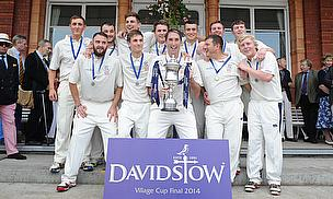 The victorious Woodhouse Grange side lift the Davidstow Village Cup