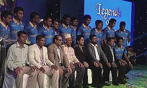 Sachin Tendulkar at the launch of the Legends of Rupganj team