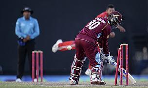 Denesh Ramdin is bowled