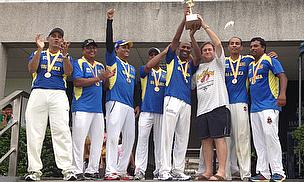 Lankan Masters celebrate their title