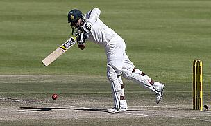 Azhar Ali hits to leg