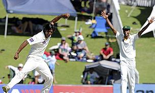 Rahat Ali celebrates a wicket