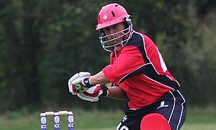 Justin Brooke batting