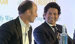 Nasser Hussain asks Sachin Tendulkar the questions at Lord's