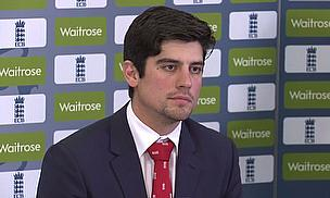 Alastair Cook chats to the media at Lord's