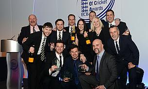 Warwickshire took home three awards from the 2014 Business of Cricket Awards