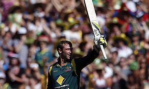 Phil Hughes, pictured here celebrating scoring an ODI century, has passed away