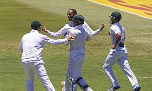 Robin Peterson celebrates a wicket