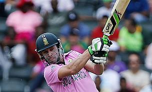 AB de Villiers struck an imperious century as South Africa hammered the West Indies