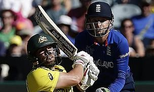 Aaron Finch scored a breathtaking century as Australia thumped England to kick start their World Cup campaign.