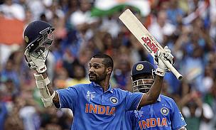 Shikhar Dhawan (left) and Ajinkya Rahane (right) put on a 125-run stand for the third wicket as India dominated South Africa