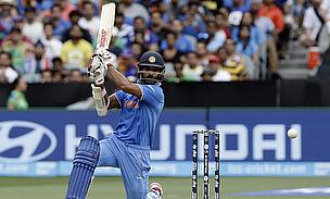 Shikhar Dhawan was in a watchful mood today from the start scoring 137 runs.