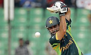 Shehzad scored a fine knock of 93 as Pakistan beat UAE by 129 runs in Napier.