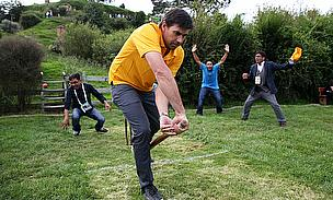 Stephen Fleming captained one of the teams in the Hobbiton Movie Set Cricket Cup