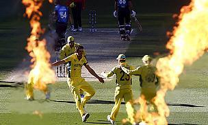 Mitchell Starc celebrates a wicket