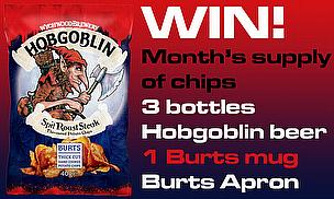 Win A Bumper Selection Of Prizes With Burts Chips