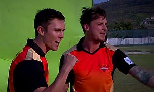 Trent Boult And Dale Steyn Shooting The Sunrisers Hyderabad IPL Anthem